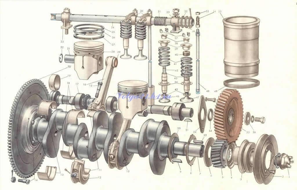 Двигатель 402 стопорные кольца коленвала